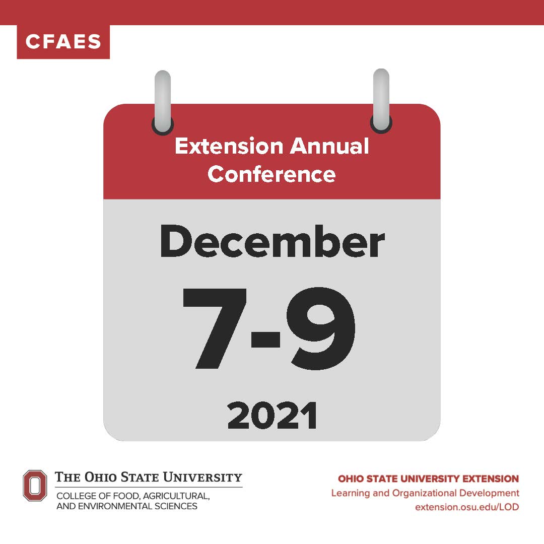 Extension Annual Conference Save the Date, December 7-9, 2021