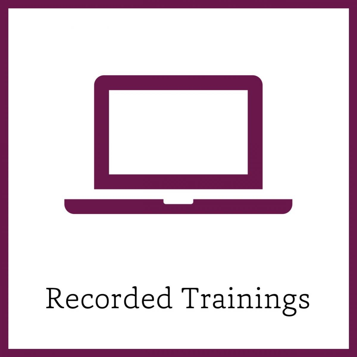 Recording trainings link icon
